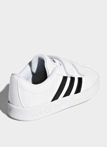 adidas Adidas Şeritli Erkek Çocuk Yürüyüş Ayakkabısı Beyaz